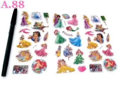 Stiker Timbul Princess / 10 lembar ( A-8377 )