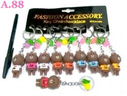 Gantungan Kunci Bear Coklat / lusin ( A-8395 )