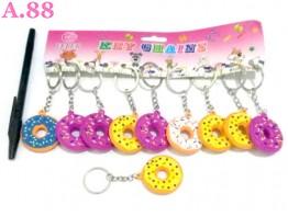 Gantungan Kunci Donut / lusin ( A-8398 )