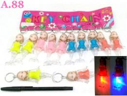 Gantungan Kunci Duyung Lampu / lusin ( A-8399 )