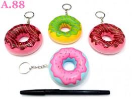 Gantungan Kunci Squisi Donut / 3 pcs ( A-8401 )
