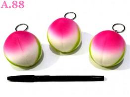 Gantungan Kunci Squisi Peach / 3pcs (A-8446)
