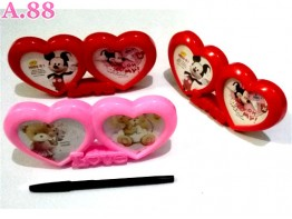 Frame Double Love / 2 pcs ( A-8496 )