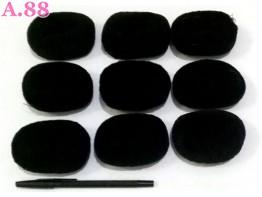 Donut Hitam Tebal / lusin ( A-8520 )