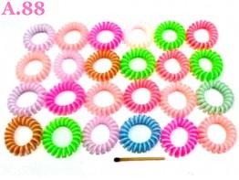 Kuncir Spiral Dua Warna /50 pcs ( A-8548 )