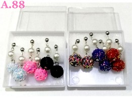 Anting  Mote Bulat Manik / box (A-8561)