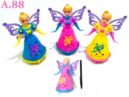 Barbie Roda Lampu /2pcs (A-8585)