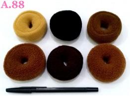 Kuncir Tebal Coklat Medium /lusin (A-8595)