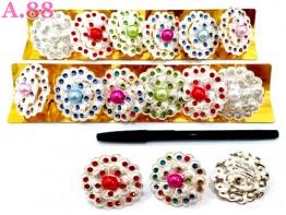 Ring Jilbab Bunga Kelopak Mata / lusin (A-8600)