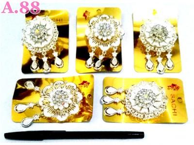Bros Bunga Silver Jurai Tiga /lusin (A-8653)
