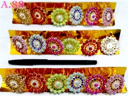 Ring Jilbab Mote Lingkar /lusin (A-8711)