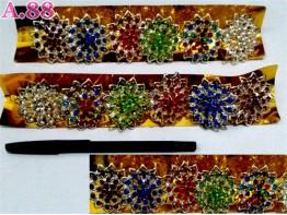 Ring Jilbab Bunga Mata Runcing /lusin (A-8716)