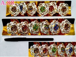 Ring Jilbab Bunga Channel /lusin (A-8717)