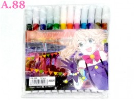 Pensil Warna Cair Snowman /2set (A-8741)