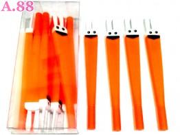 Pulpen Gel Kelinci Orange /lusin (A-8757)