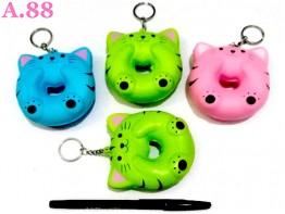 Gantungan Kunci Squisi Kucing  /3pcs (A-8762)