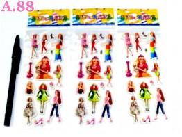 Stiker Timbul Barbie /10lbr (A-8796)