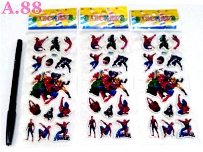 Stiker Timbul Spiderman /10lembar (A-8799)