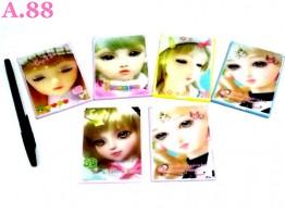 Kaca Barbie 3D 6.5cm x 9cm /lusin (A-8852)