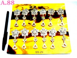 Bros Double Bunga Jurai Silver /lusin (A-8870)