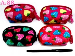 Dompet Koin Strawberry Kecil /7pcs (A-8885)