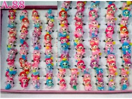 Cincin Duyung Gliter Isi 100 /box (A-8901)