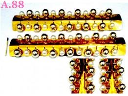 Bros Tuspin Mote Putih Kuning /lusin (A-8913)