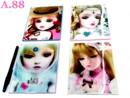 Kaca Barbie 3D 12.5cm x 16cm/6pcs (A-8934)