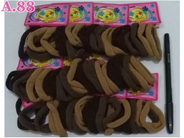 Donut  Card Polos Coklat Isi 72 /bungkus (A-8946)