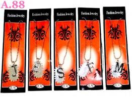 Kalung Silet Abjad /lusin (A-8953)