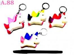 Gantungan Kunci Squisi Unicorn / 3pcs (A-8960)