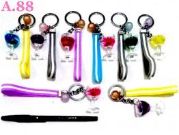 Gantungan Kunci Tali Gelas /lusin (A-8961)