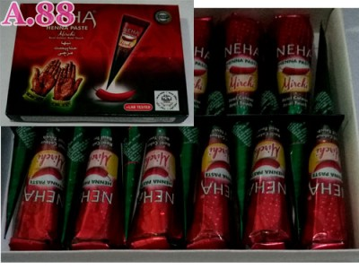 Neha Henna Paste Red /lusin (A-8968)