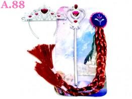 Rambut Tongkat Mahkota Anna Frozen /2set (A-8971)
