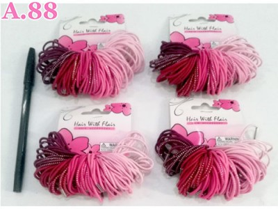 Kuncir Pink Halus Isi 100 /3pak (A-9056)