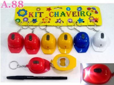 Gantungan Kunci Topi Lampu Buka Botol /lusin(A-9061)