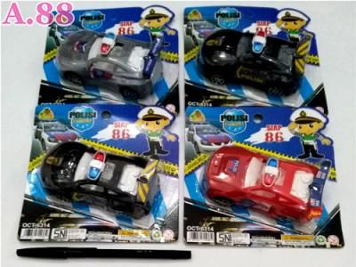 Mobil Polisi Kecil  /2pcs (A-9071)