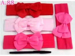 Bandana Pita Polos Pink Pita /lusin (A-9072)