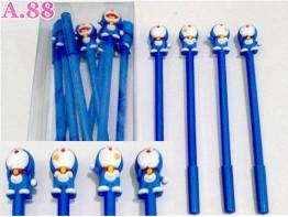 Pulpen Gel Karet Doraemon /lusin (A-9091)