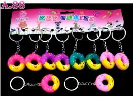 Gantungan Kunci Donut Karet /lusin (A-9131)