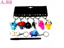 Gantungan Kunci BTS Karet /lusin (A-9176)