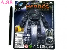 Robot Jam Tangan 2 in 1 /2set (A-9277)