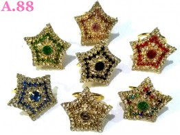Ring Jilbab Bintang Full Mata / 6pcs(A-9284)