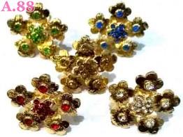Ring Jilbab Bunga Mata / lusin(A-9286)