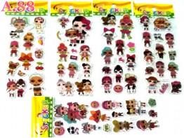 Stiker Timbul LOL /10lembar (A-9305)