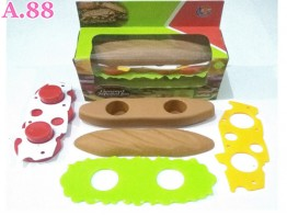 Mainan Anak Hamburger  Hotdog /2pcs (A-9336)