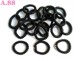 Kuncir Spiral Hitam Besar /30pcs (A-9386)