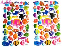 Stiker Timbul Ikan /10lembar (A-9390)