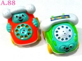 Mainan Telepon Gagang Tarik /2buah (A-9395)