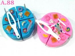 Mainan Cake Potong /2buah (A-9397)